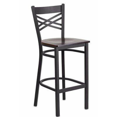 "Spooner 29"" Bar Stool Seat Color: Black/Red"