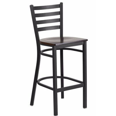 "Spring Street 29"" Bar Stool Seat Color: Black/Red"