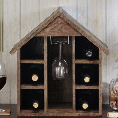 Danger Bales 6 Bottle Tabletop Wine Glass Rack