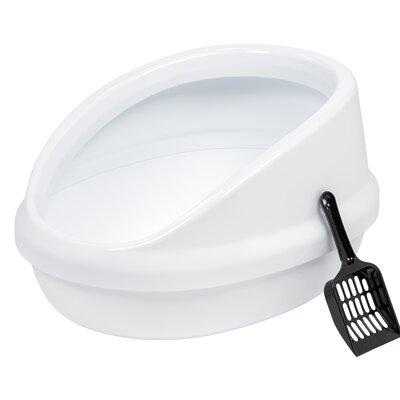 Shielded Standard Litter Box Color: White