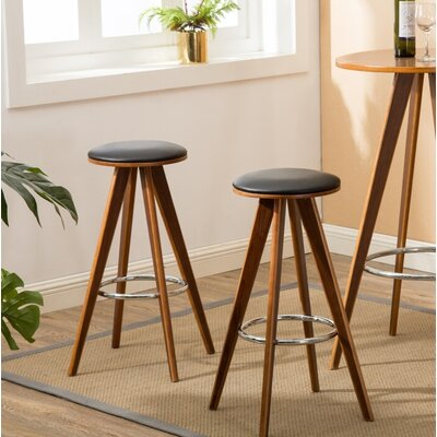 "Nick Wooden 29.53"" Bar Stool"