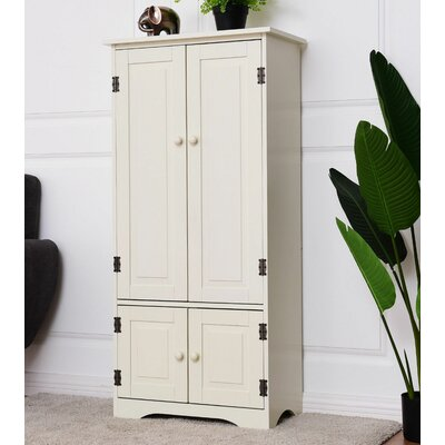 Boutte 4 Door Accent Cabinet Color: White
