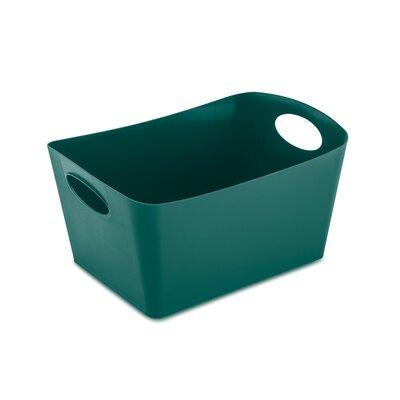"Rectangular Plastic Storage Bin Size: 5.9"" H x 11.7"" W x 8"" D, Color: Emerald Green"