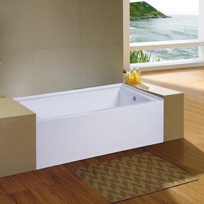 Nova 60'' x 32'' Alcove Soaking Bathtub Drain Location: Right