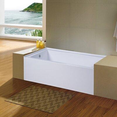 Nova 60'' x 32'' Alcove Soaking Bathtub Drain Location: Left