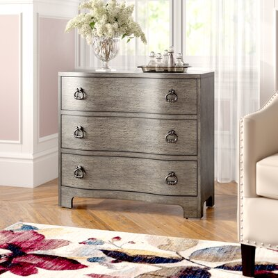 Charlesworth Traditional Style and Vintage Glam Influence 3 Drawer Accent Chest