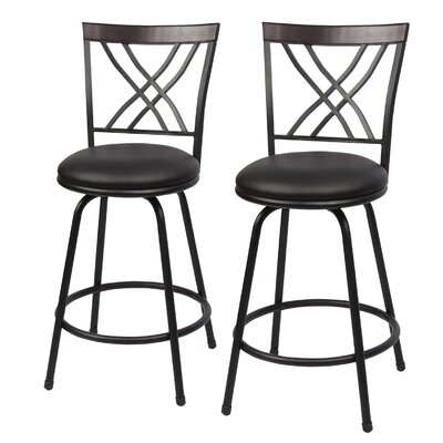 Stalvey Adjustable Height Swivel Bar Stool