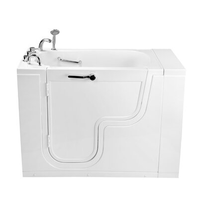 "Transfer26 Wheelchair Accessible Acrylic with Left Outward Swing Door 26"" x 26"" Walk-In Bathtub Type: Soaking"