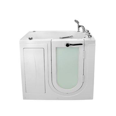 """Mobile Acrylic Dual Digital Control 45"""" x 26"""" Walk-In Bathtub"""