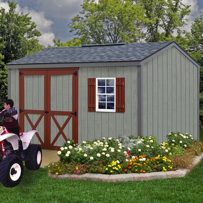 Cypress 10 ft. W x 12 ft. D Solid Wood Storage Shed