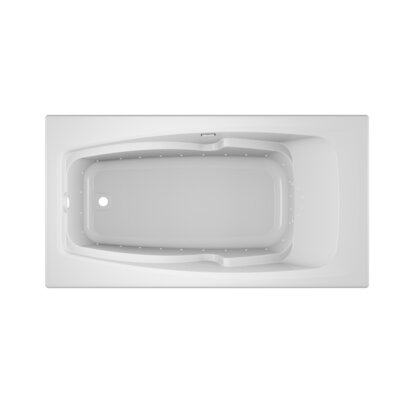 "Cetra Pure Left-Hand 60"" x 32"" Drop in Air Bathtub Finish: White"