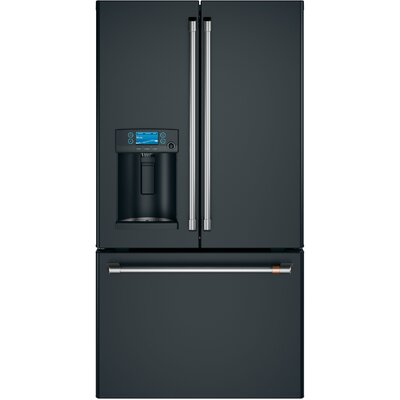27.8 cu. ft. French-Door Refrigerator with Hot Water Dispenser Finish: Matte Black