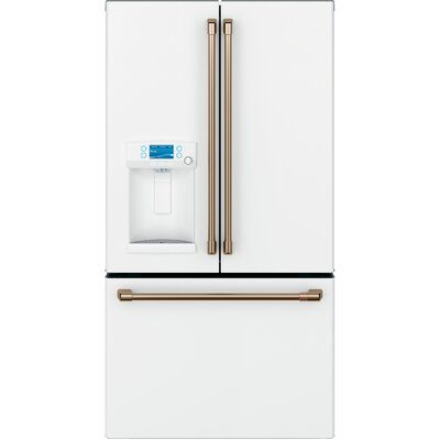27.8 cu. ft. French-Door Refrigerator with Hot Water Dispenser Finish: Matte White