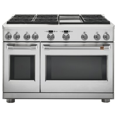 "Professional 48"" Slide-in Dual Fuel Range with Griddle"