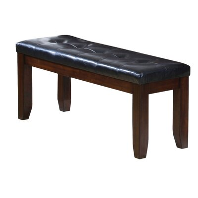 Hirano Leather Wooden Bench