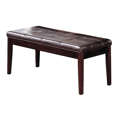 Hirth Wooden Bench Color: Dark Walnut