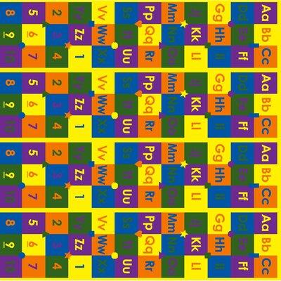 "ABC123's Floor Mat Size: 0.5"" H x 72"" W x 72"" D"