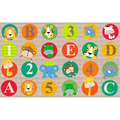 "ABC and 123 Animals Light Floor Mat Size: 0.5"" H x 90"" W x 144"" D"