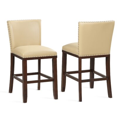 "Millwright 24"" Bar Stool (Set of 2) Color: Toffee"