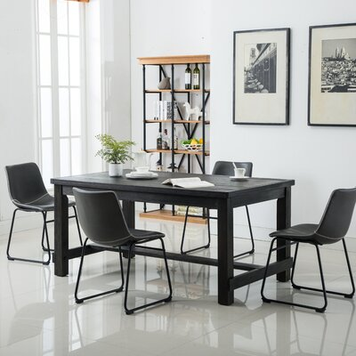 Shoemaker 5 Piece Dining Set Chair Color: Gray