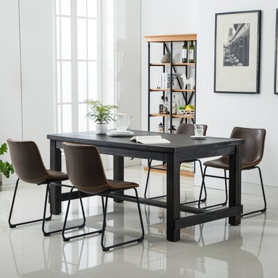 Shoemaker 5 Piece Dining Set Chair Color: Brown