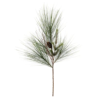Iced Long Needle Pine and Cone Spray Foliage Plant (Set of 2)