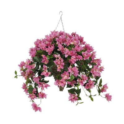 faux bougainvillea trailing hanging flowering plant in suspended
