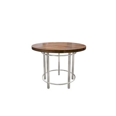 "Metropolitan Dining Table Size: 36"" H x 36"" L x 36"" W, Top Color: Cherry"