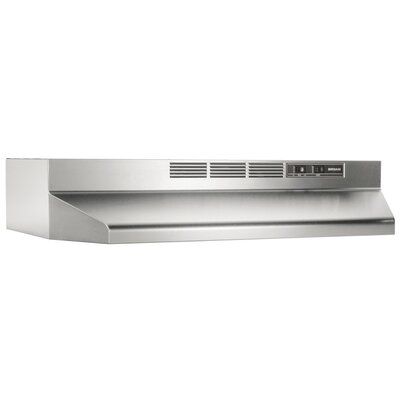 "30"" Ductless Under Cabinet Range Hood Finish: Stainless Steel"