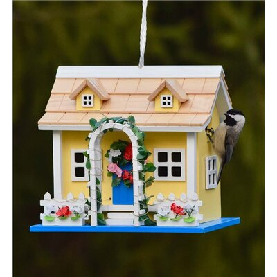 Somerset Lighted 9 in x 8 in x 7 in Birdhouse