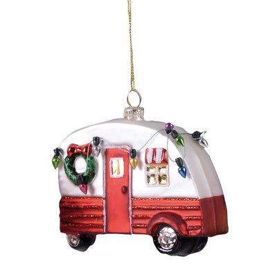 Christmas Camper Hanging Figurine