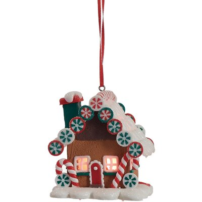 Walter Light Up Gingerbread House Hanging Figurine