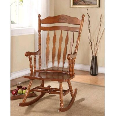 Jerard Rocking Chair Finish: Oak
