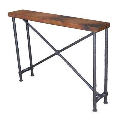 "Del Console Table Size: 28"" H x 40"" W x 8"" D, Table Base Color: Black"