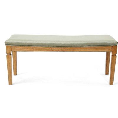 Vanhorn Wood Bench Upholstery: Pistachio