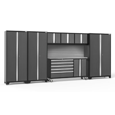Bold 3.0 7 Piece Complete Storage System Finish: Gray, Lighting: LED Light, Worktop Material: Stainless Steel