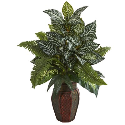 Mixed Floor Foliage Plant in Planter