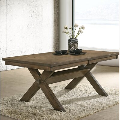 Poe Cross-buck Extendable Dining Table