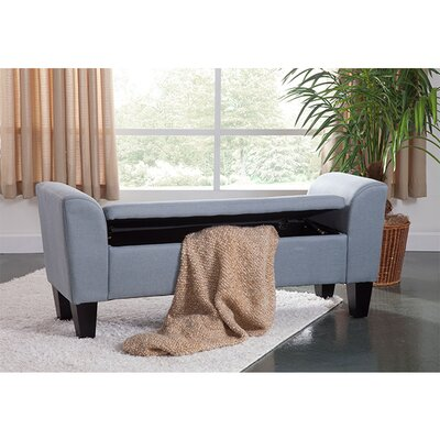 Claire Upholstered Storage Bench Upholstery: Blue