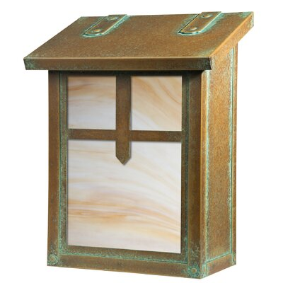 Summit Locking Wall Mounted Mailbox Glass Color: Champagne, Mailbox Color: New Verde