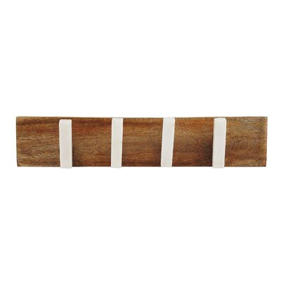 Salter Marble and Wood Wall Mounted Coat Rack