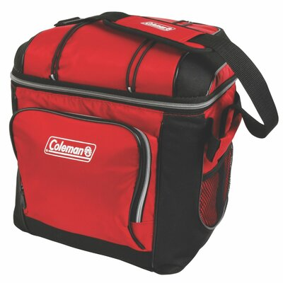 30 Can Coleman Cooler Color: Red/Black