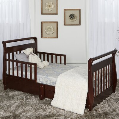 Toddler Sleigh Bed with Storage Color: Espresso