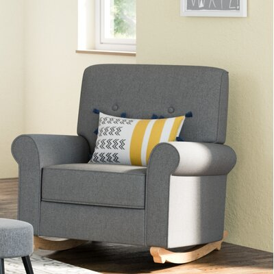 Harper Tufted Rocking Chair Color: Horizon Gray