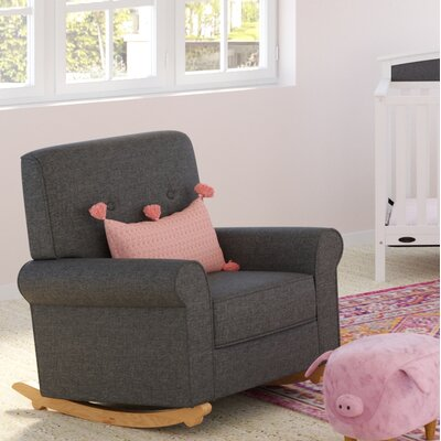 Harper Tufted Rocking Chair Color: Night Sky