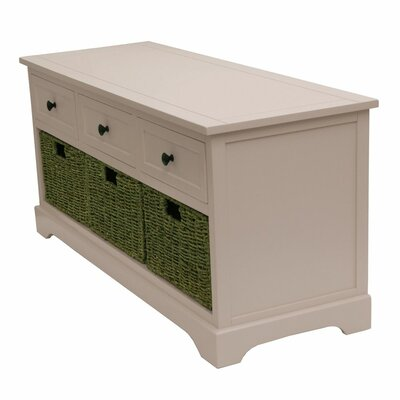 Ardina Wood Storage Bench Color: Rosie Mae