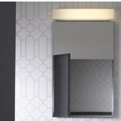 """PL Series 19.25"""" x 39.38"""" Recessed or Surface Mount Medicine Cabinet Finish: White, Orientation: Left"""