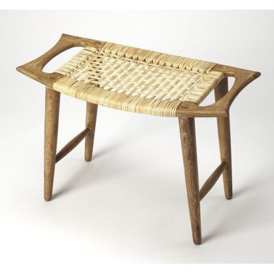 Arago Modern Rattan Accent Stool Color: Natural