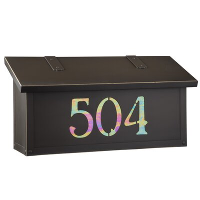 Classic Wall Mounted Mailbox Finish: Warm Brass, Glass Color: Champagne