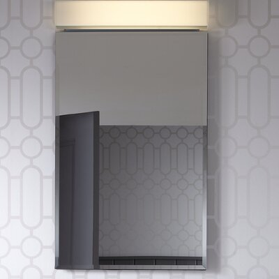 "PL Series 19.25"" x 34"" Recessed or Surface Mount Medicine Cabinet Finish: Black"
